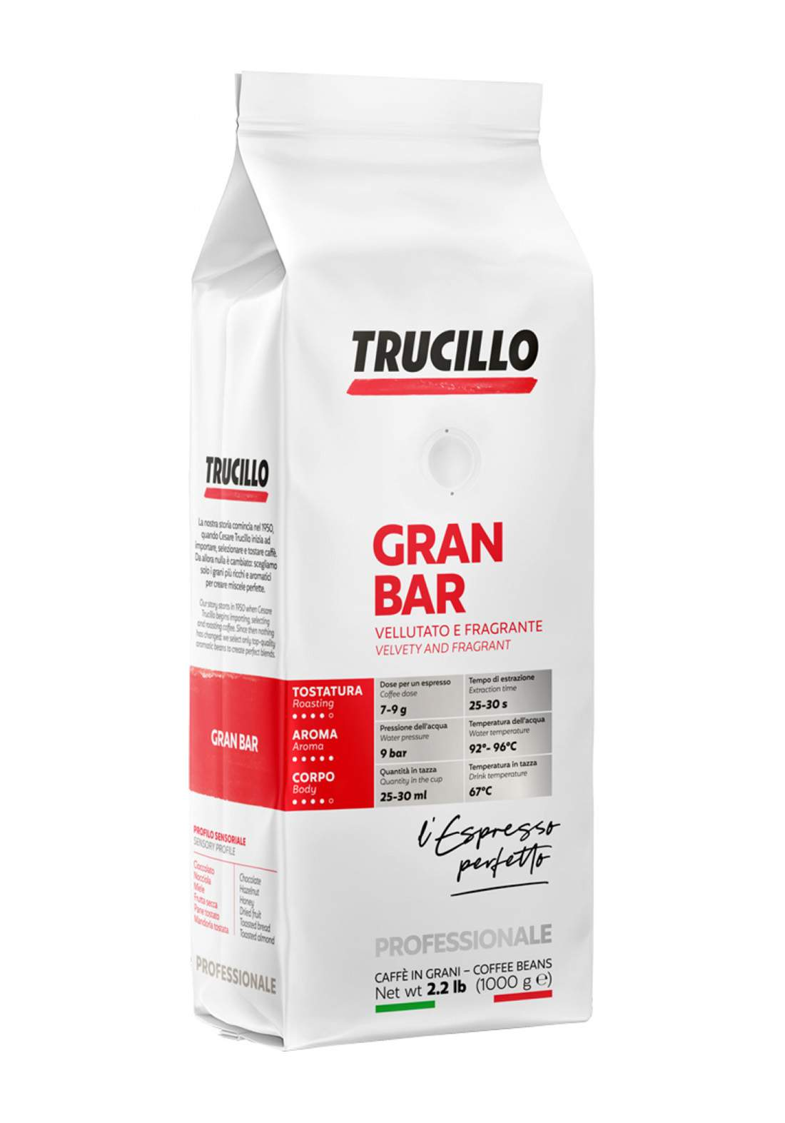 Trucillo Premium Gran Bar 1Kg قهوة
