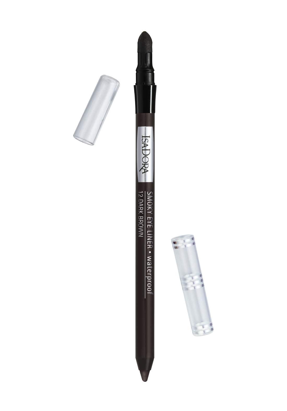 314225 Isadora Smoky Eye Liner No.12 Dark Brown محدد العيون