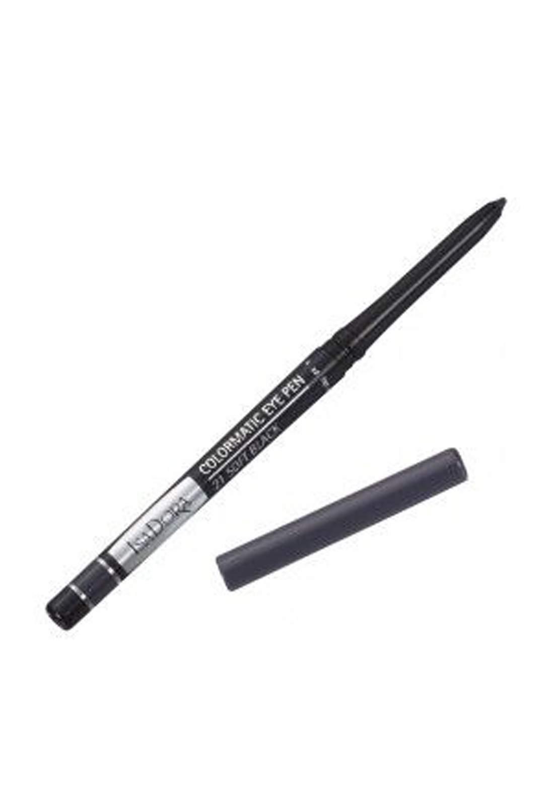 314186 Isadora Colormatic Eye Pen - Soft Black قلم تحديد العين