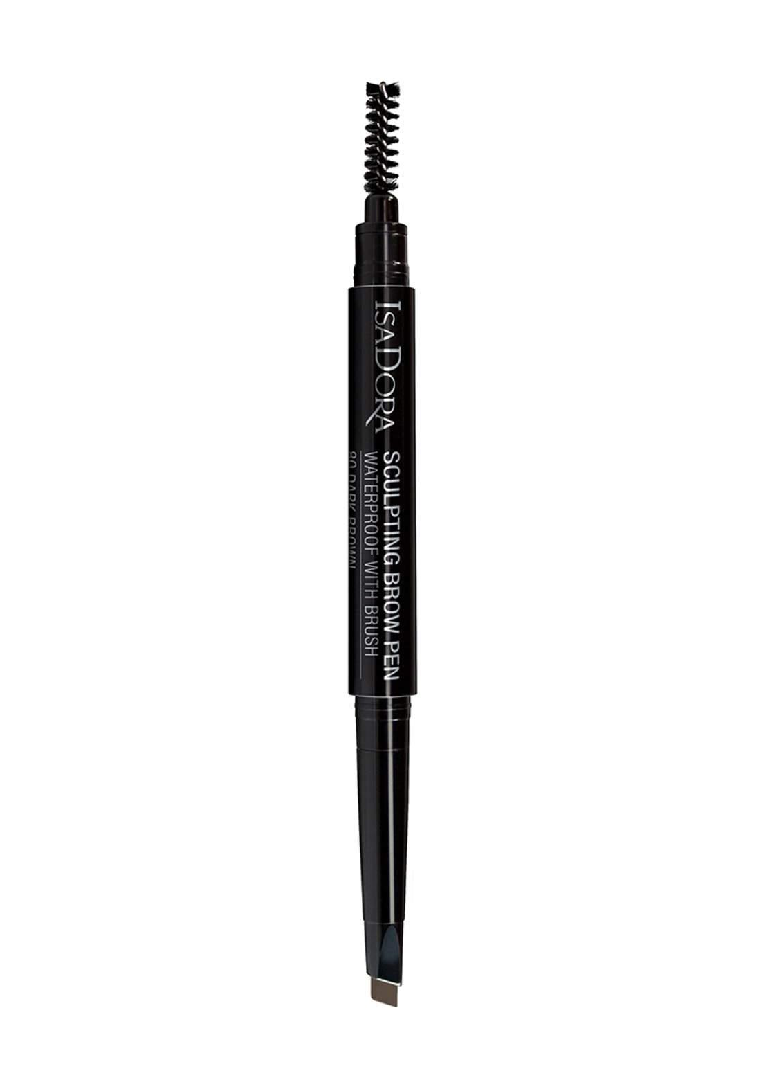 314204 Isadora Sculpting Brow Pen Waterproof -Dark Brown No.80  قلم تحديد الحواجب بالفرشاة