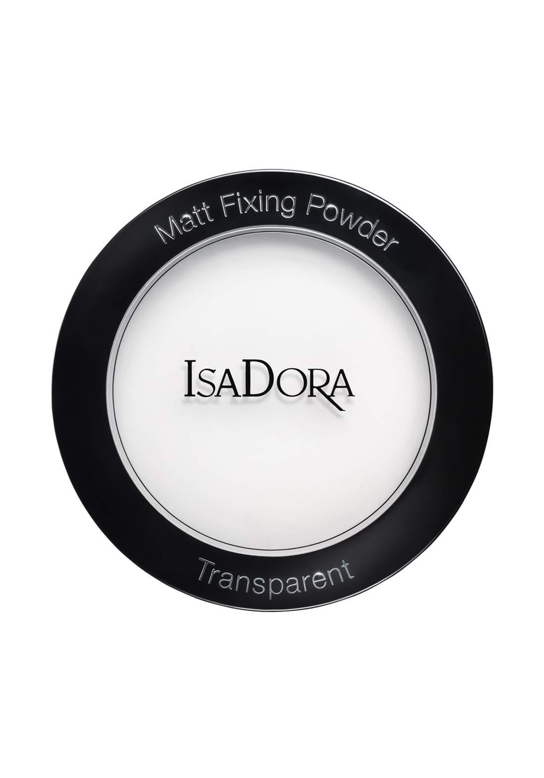 IsaDora 314335 Matt Fixing Blotting Powder - Transparent بودرة شفافة