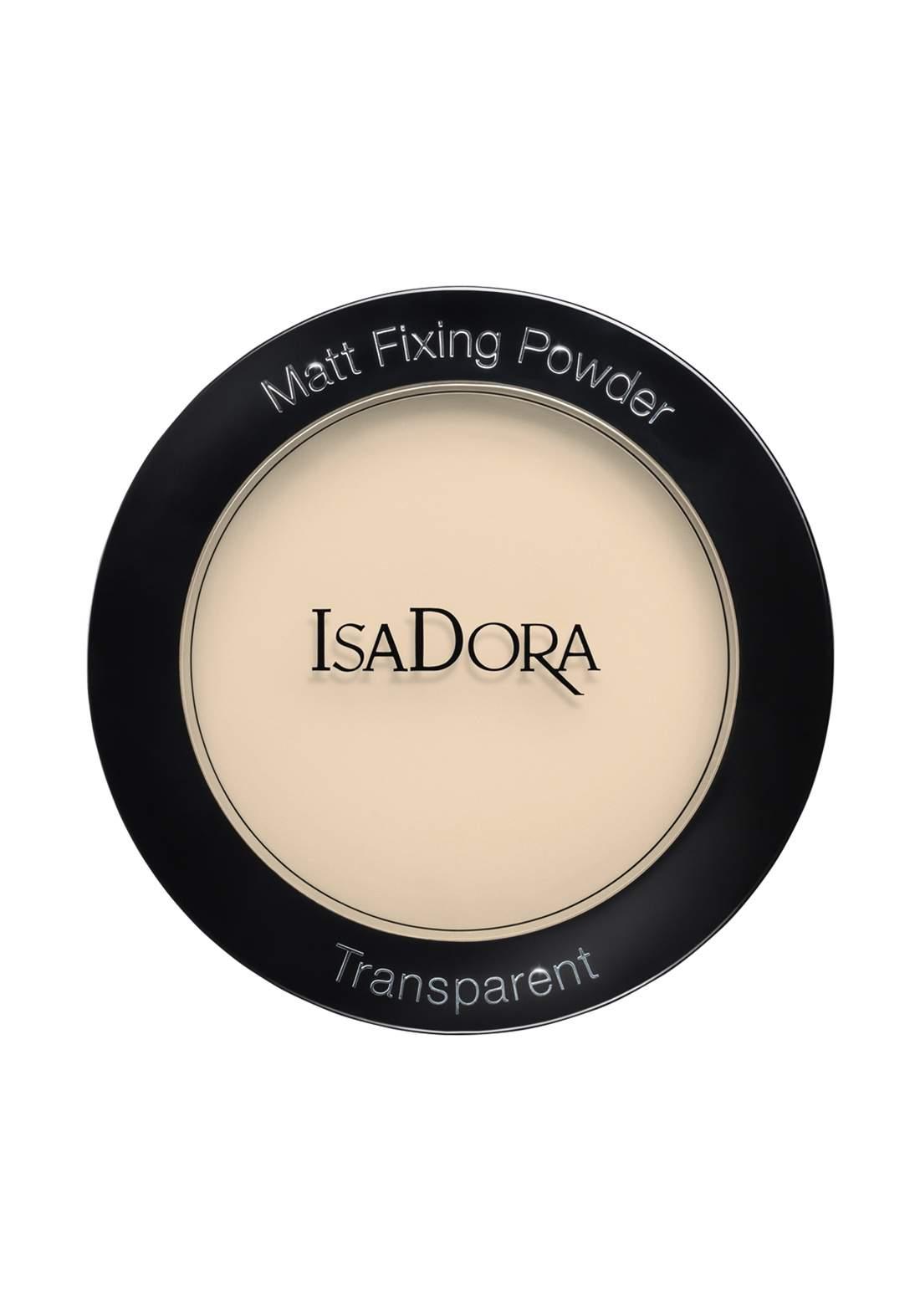 IsaDora 314336 Matt Fixing Blotting Powder - Sheer Blonde بودرة شفافة
