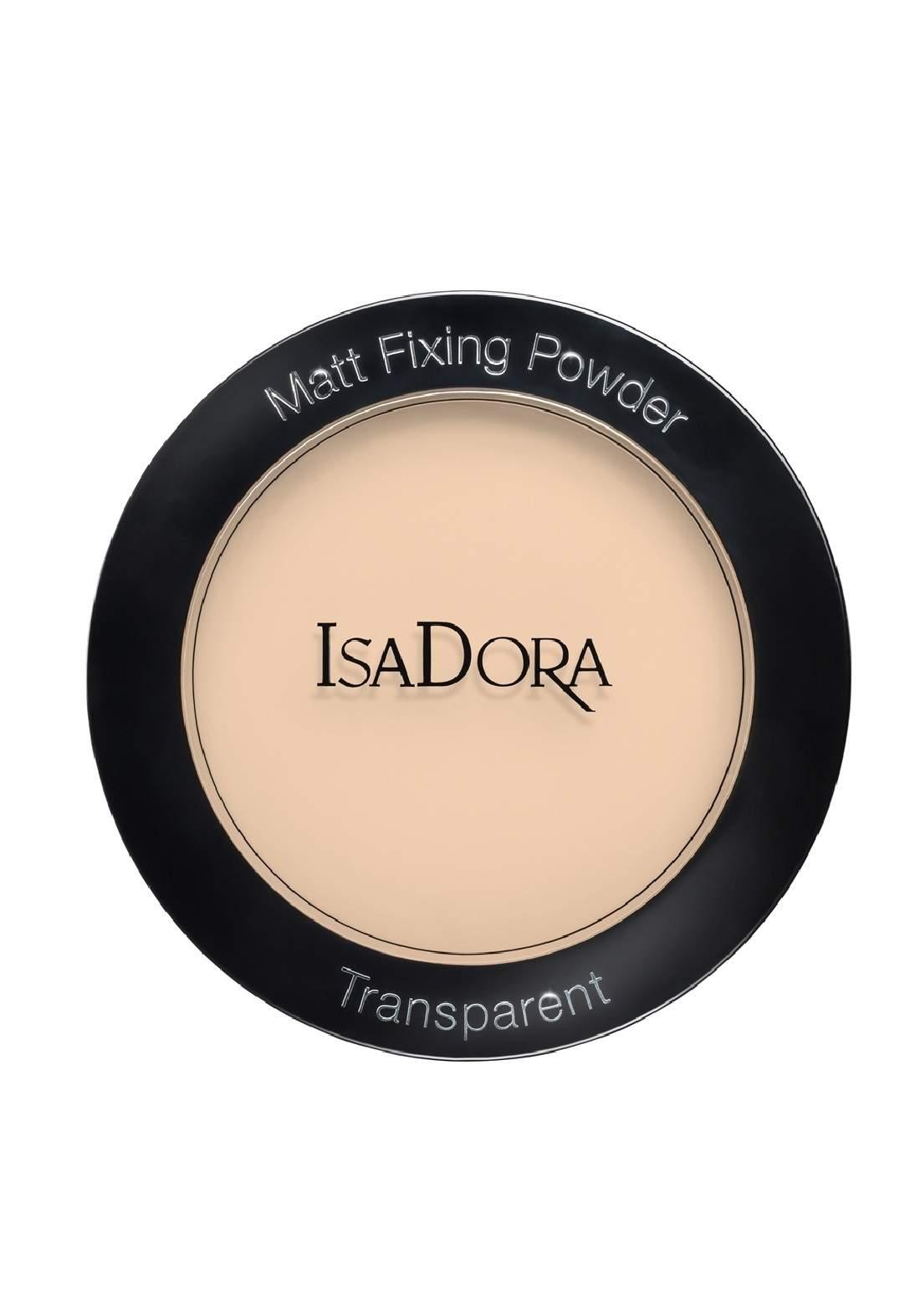 IsaDora 314337Matt Fixing Blotting Powder - Sheer Nude بودرة شفافة