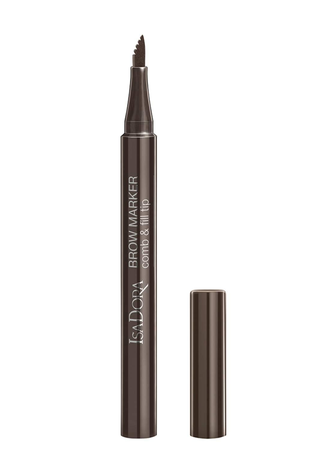 IsaDora 316550 Brow Marker Comb & Fill Tip Medium Brown No.20 قلم الحاجب