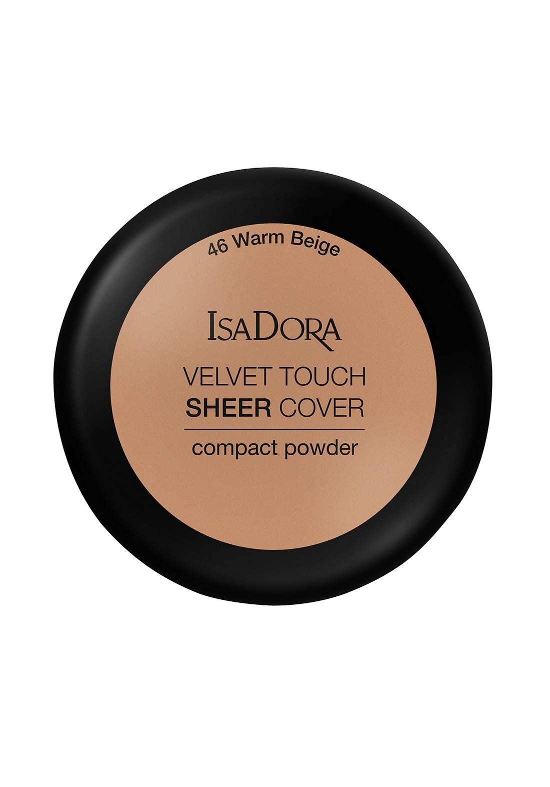 IsaDora 317110 Velvet Touch Sheer Cover Compact Powder Warm Beige NO.46 بودرة