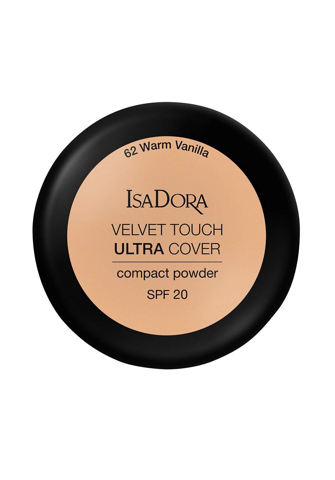 IsaDora 317102 Velvet Touch Sheer Cover Compact Powder Warm Vanilla SPF 20 NO.62 بودرة