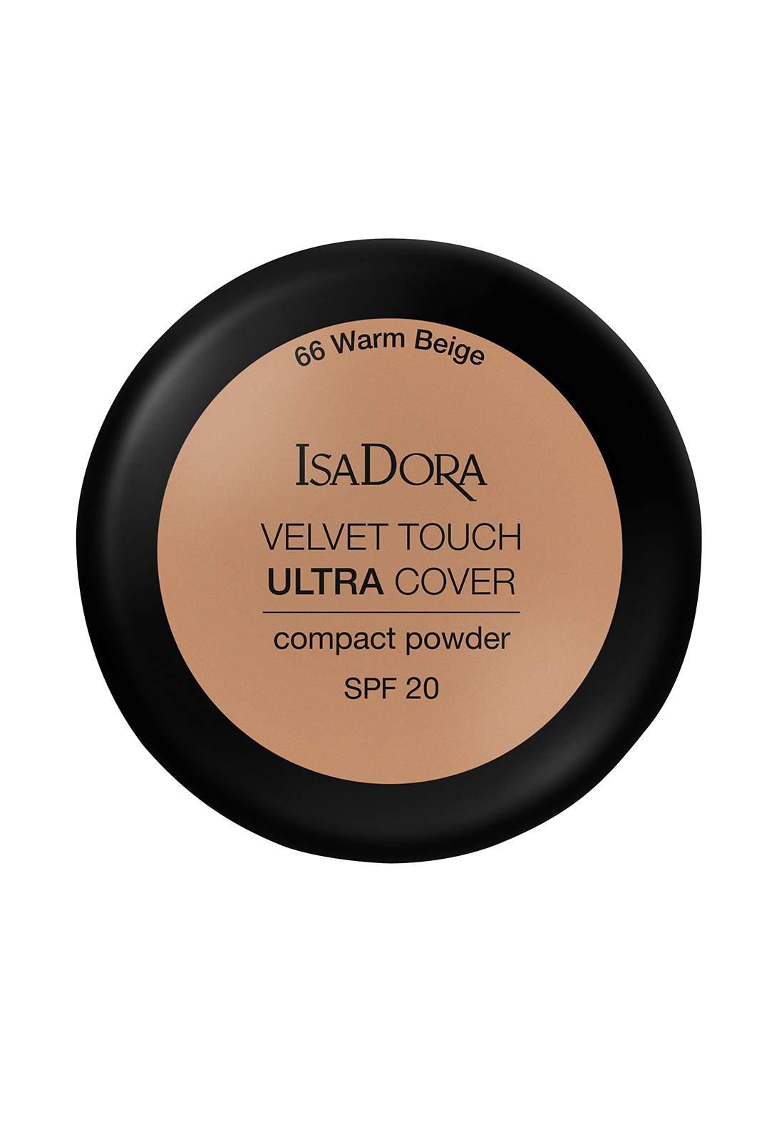 IsaDora 317114 Velvet Touch Sheer Cover Compact Powder Warm Beige SPF 20 NO.66 بودرة