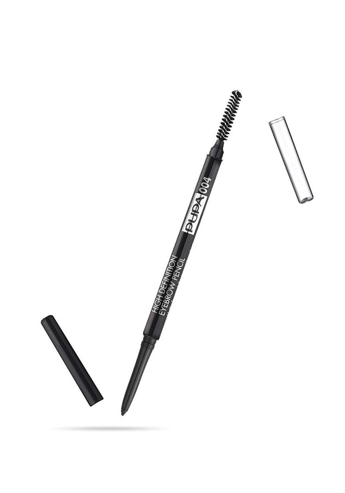 Pupa True Eyebrow Pencil Extra Dark No.004 قلم حديد الحاجب مع فرشاة