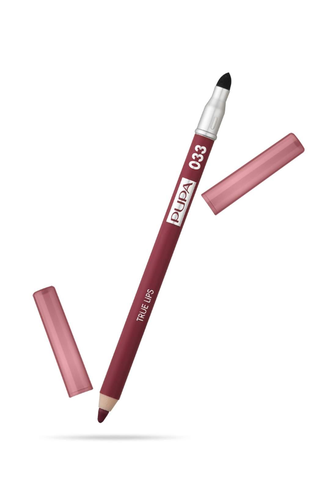 Pupa True Lips Blendable Lip Liner Pencil No.033 - Bordeaux قلم تحديد الشفاه