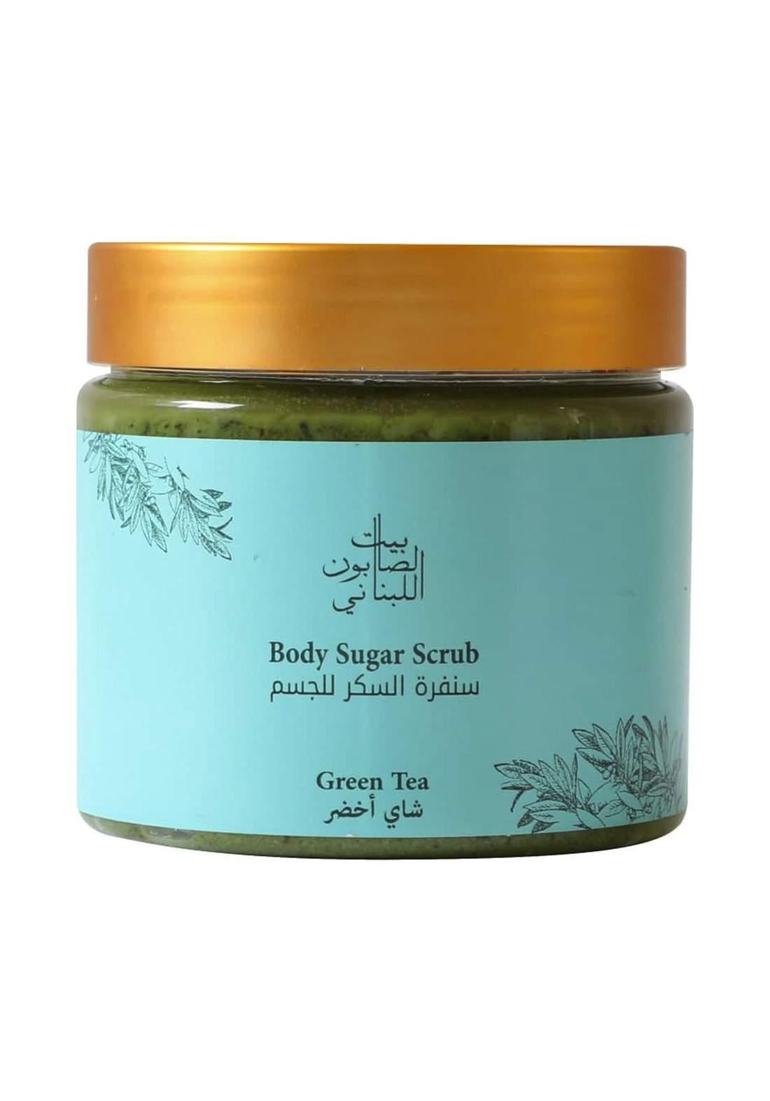 Bayt Alsaboun Alloubnani-320717 Body Sugar Scrub Green Tea 500g سنفرة