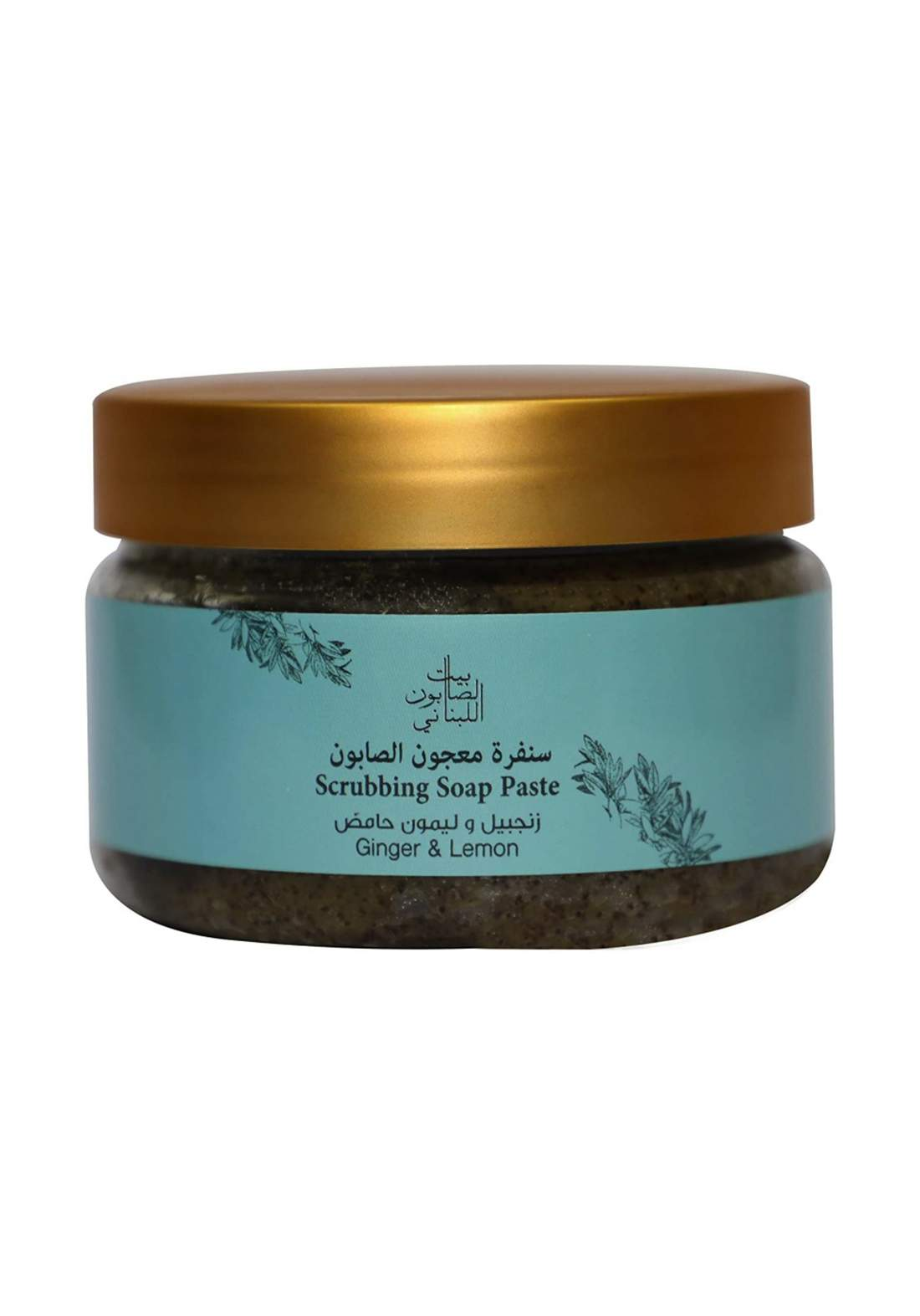 Bayt Alsaboun Alloubnani- 317475 Soap Paste Ginger&Lemon 300g سنفرة