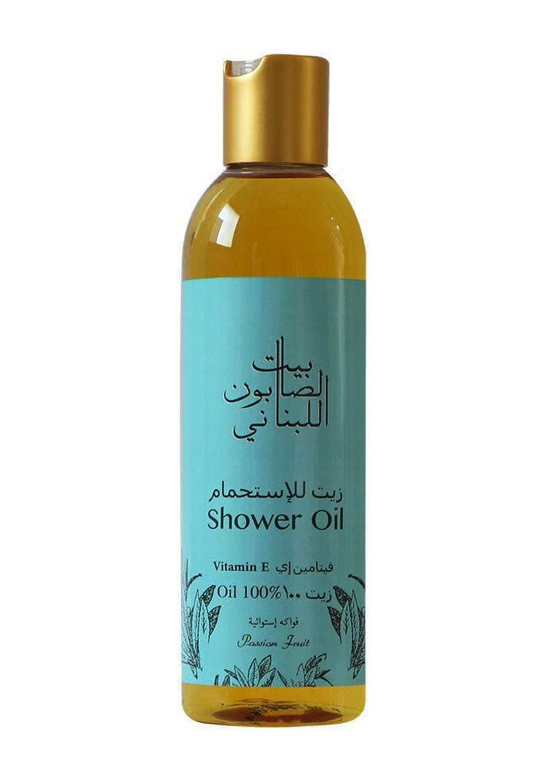 Bayt Alsaboun Alloubnani-317484 Shower Oil Vitamen E Passion Fruit 250ml زيت الاستحمام