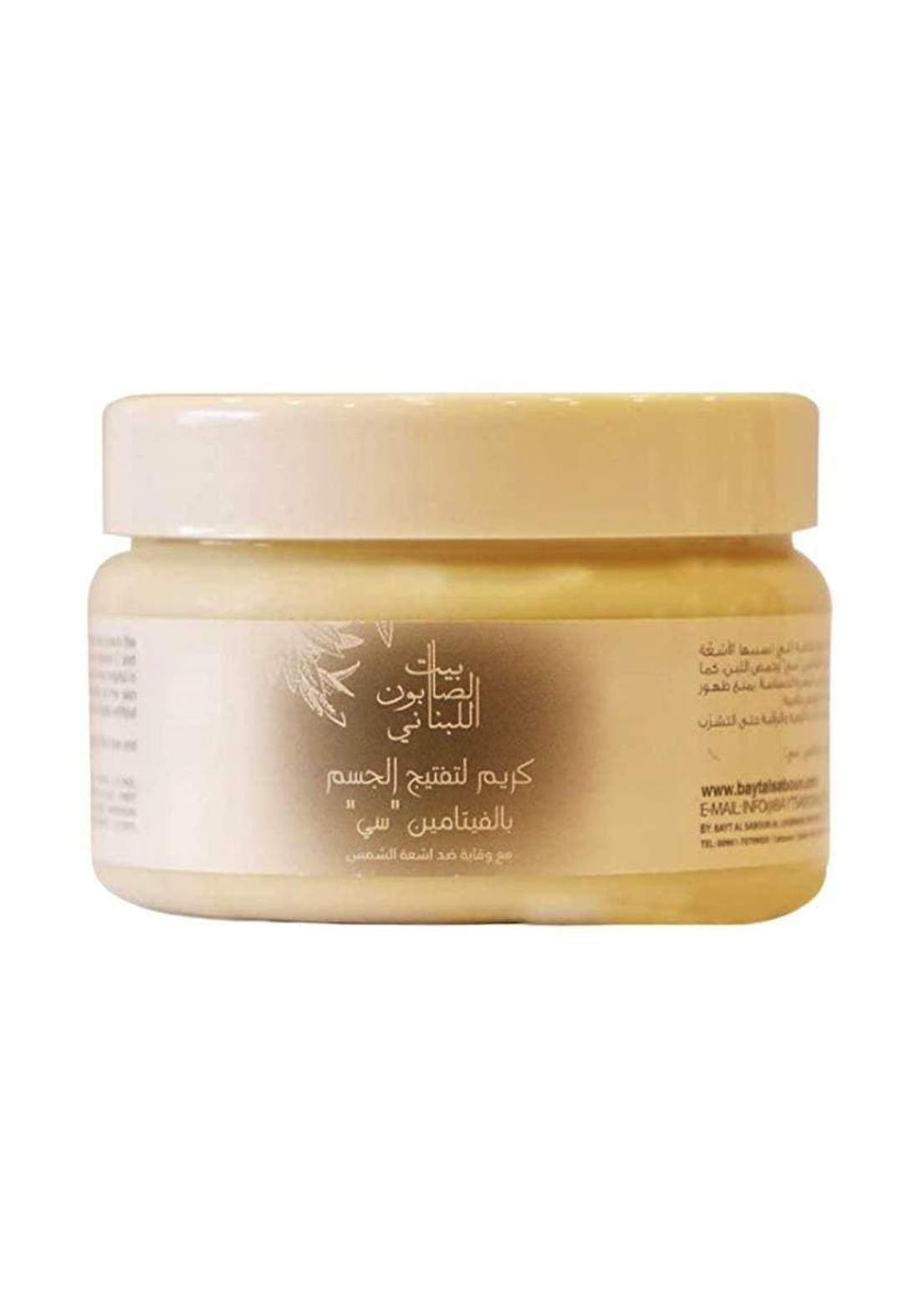 "Bayt Alsaboun Alloubnani-317452 Whitening Body Cream Vitamin ""C"" 300g كريم"