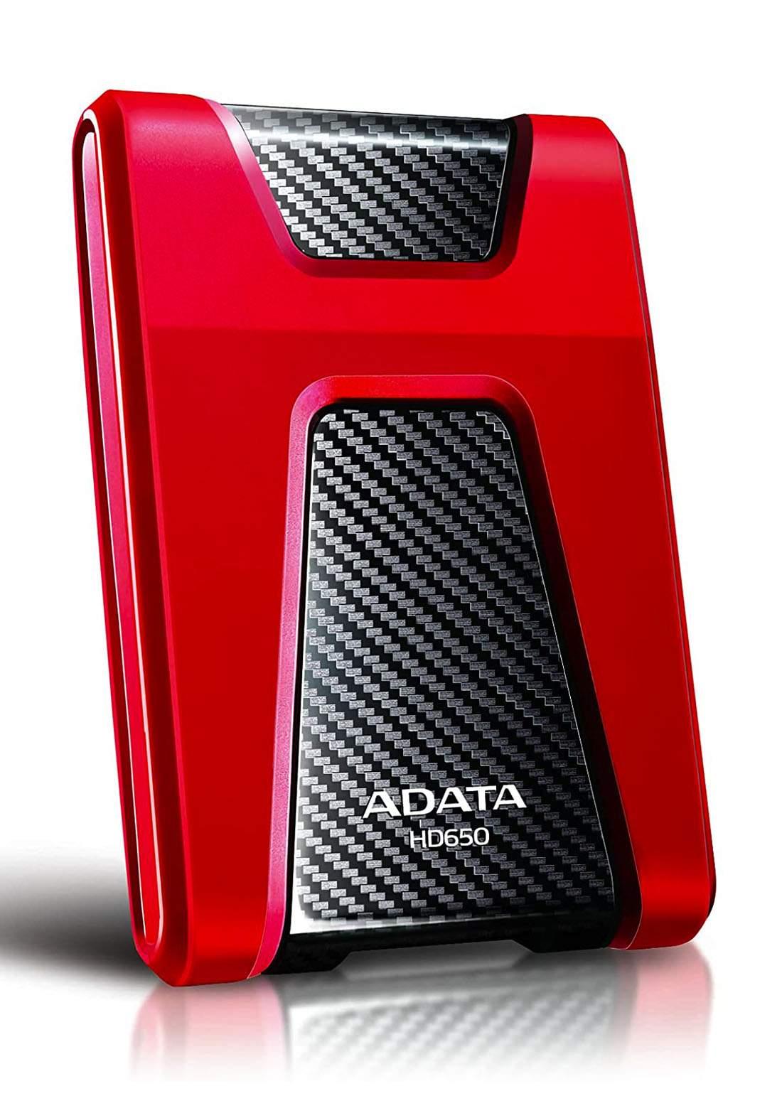 ADATA External HDD HD650 1TB  - Red هارد خارجي