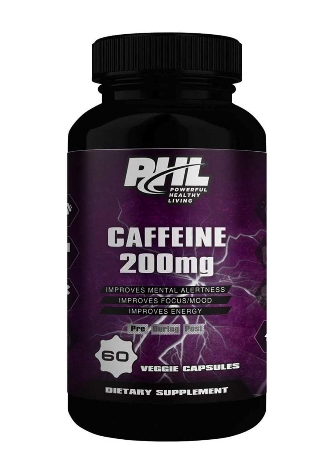 Phl Caffeine 200MG 60 Capsules مكمل غذائي