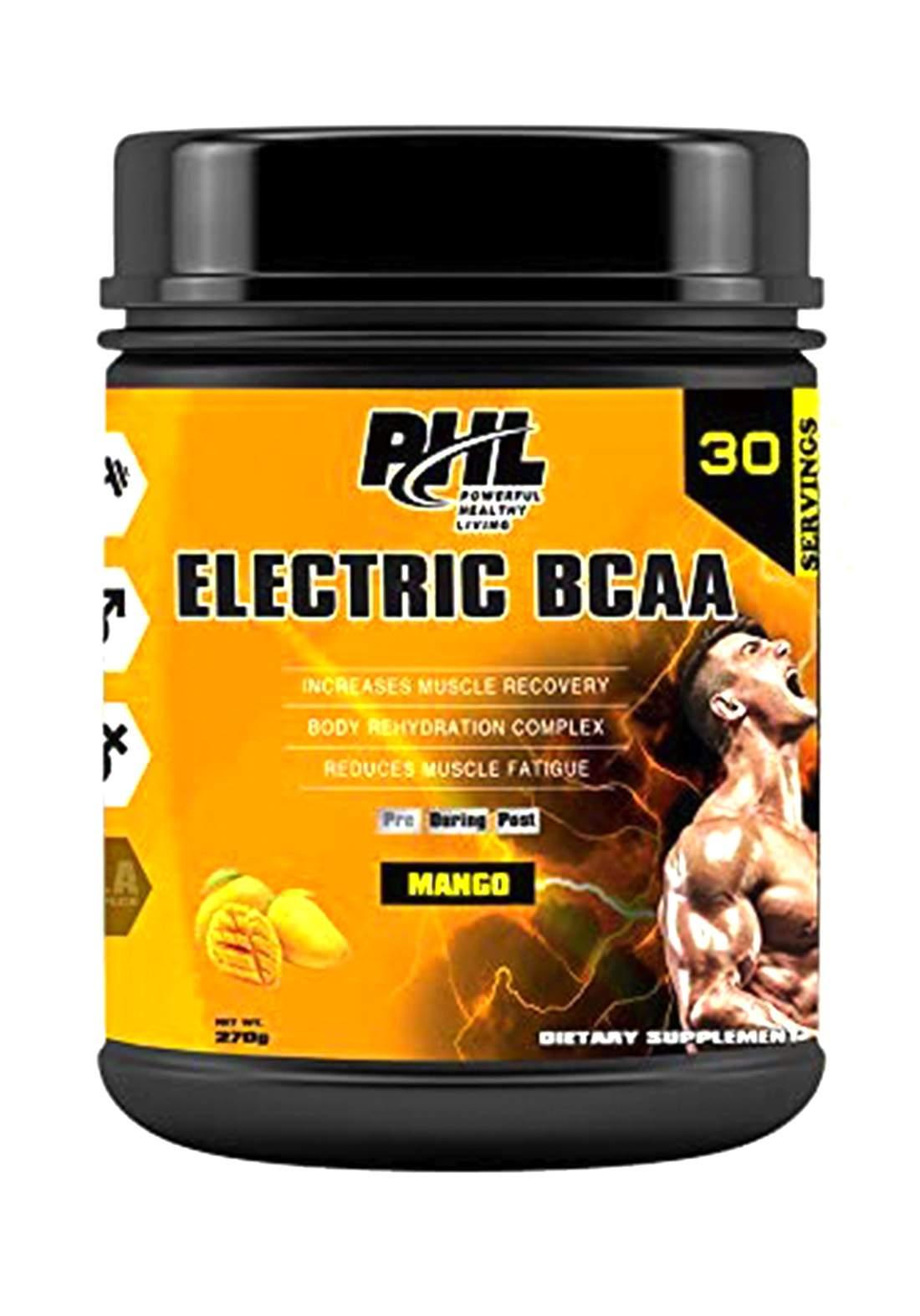 Phl Electric Bcaa Pro-Series Pwd Mango 30 servings 270gm مكمل غذائي