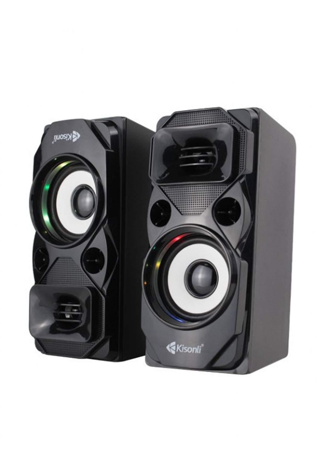 Kisonli U-9004 USB 2.0 Speaker - Black سبيكر