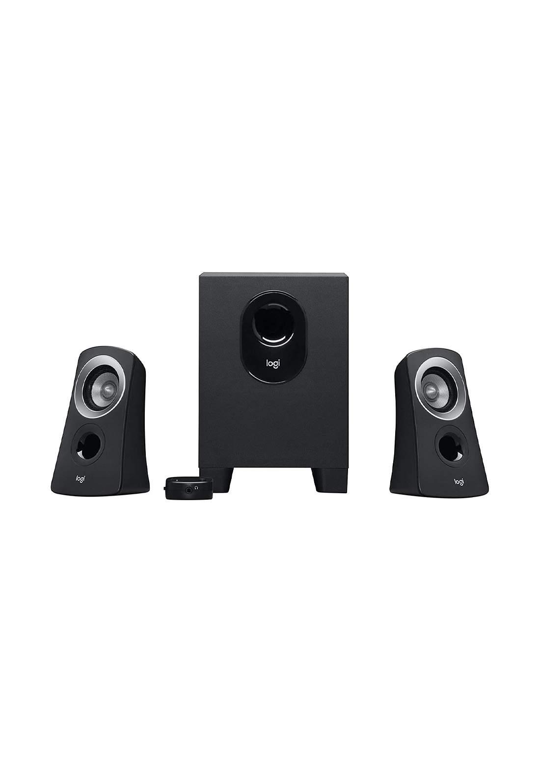 Logitech Z313 Multimedia Speaker System - Black  سبيكر