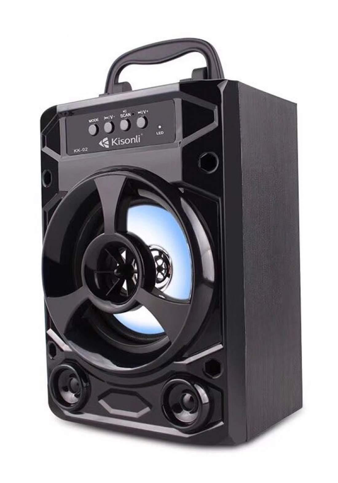 Kisonli KK02 Portable Wireless Speaker - Black  سبيكر