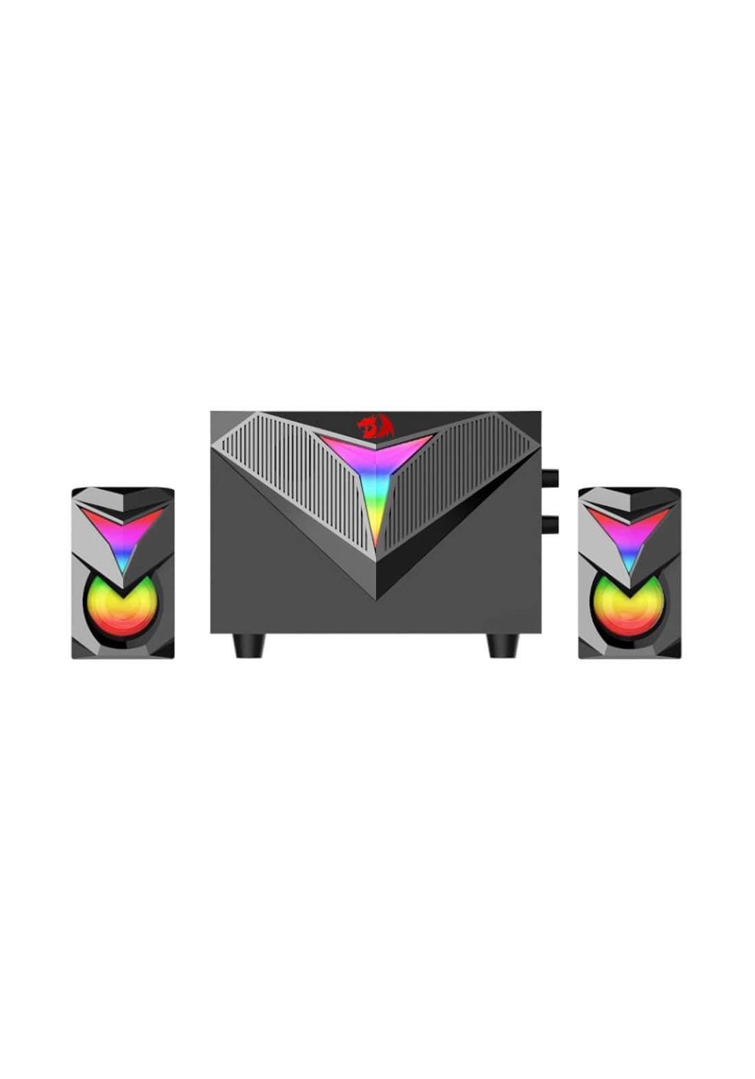 Redragon GS700 Toccata RGB 2.1 Channel PC Speaker - Black  سبيكر
