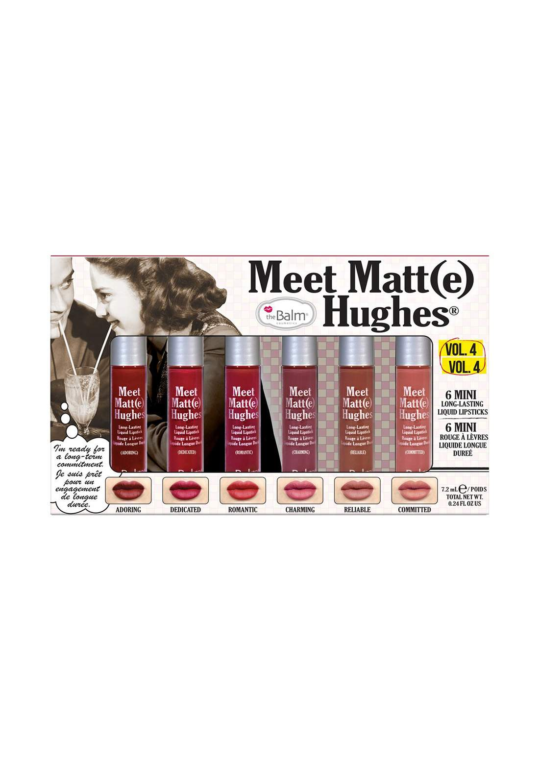 The Balm Meet Matt Hughes Set of 6 Mini Lipsticks Vol. 4  سيت احمر الشفاه