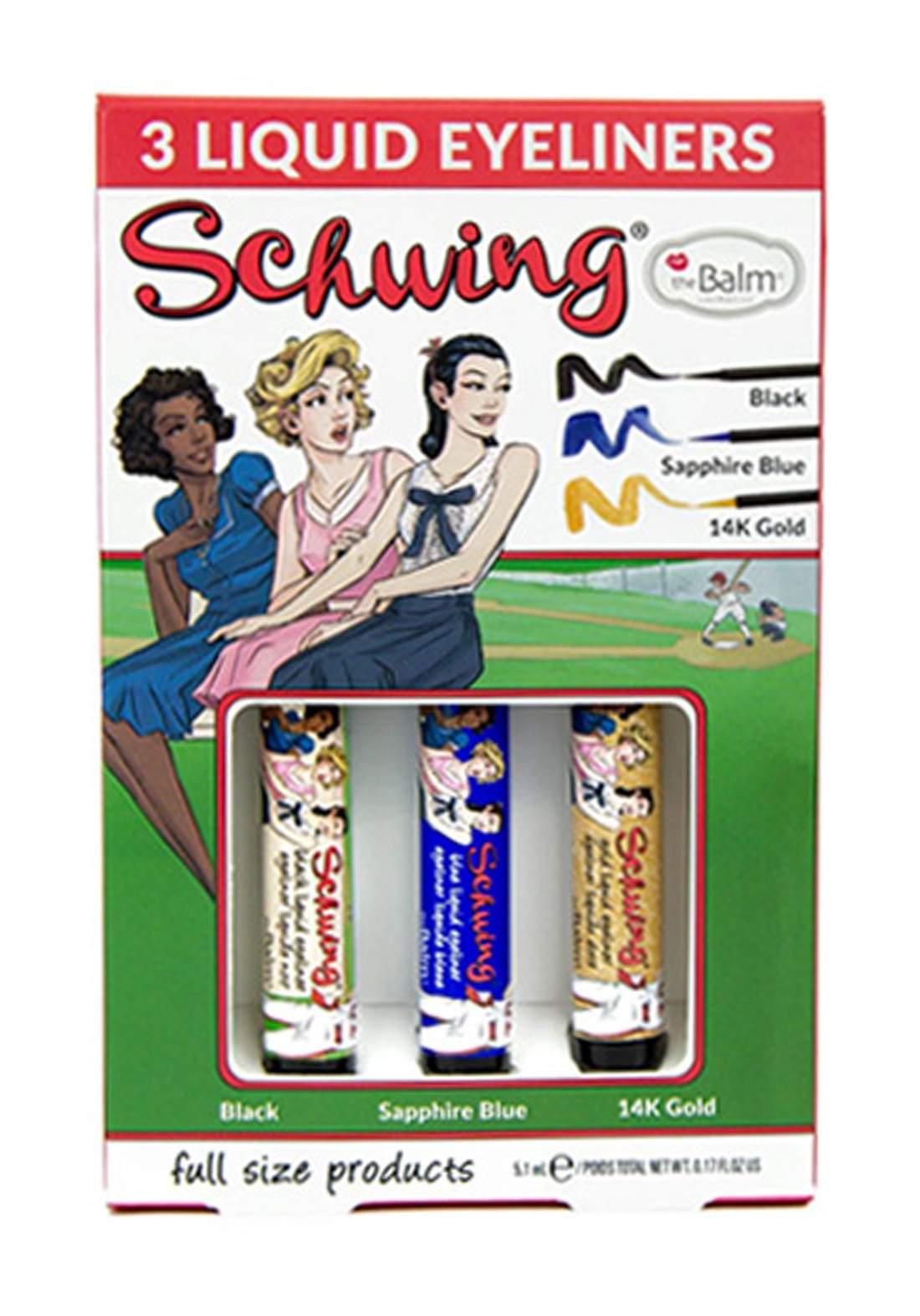 The Balm Schwing trio Liquid Eyeliner Set  سيت ايلاينر