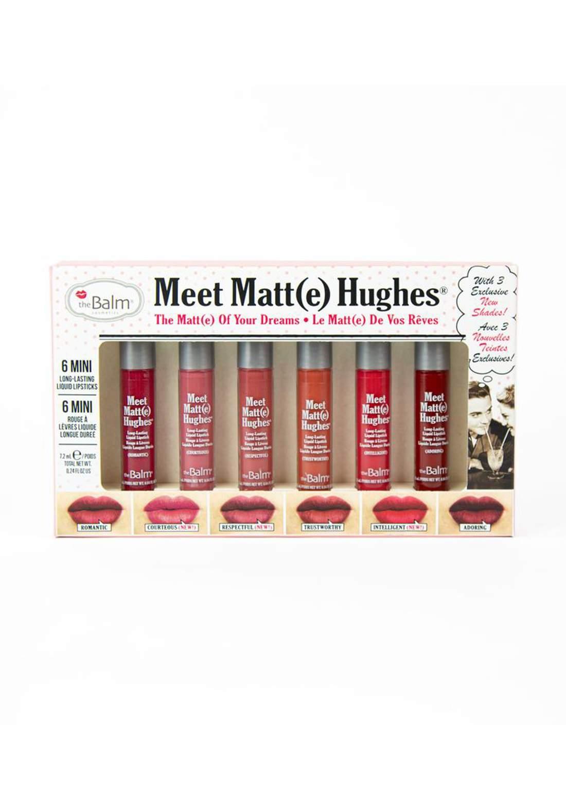The Balm Meet Matt Hughes Set of 6 Mini Lipsticks Vol. 12  سيت احمر الشفاه
