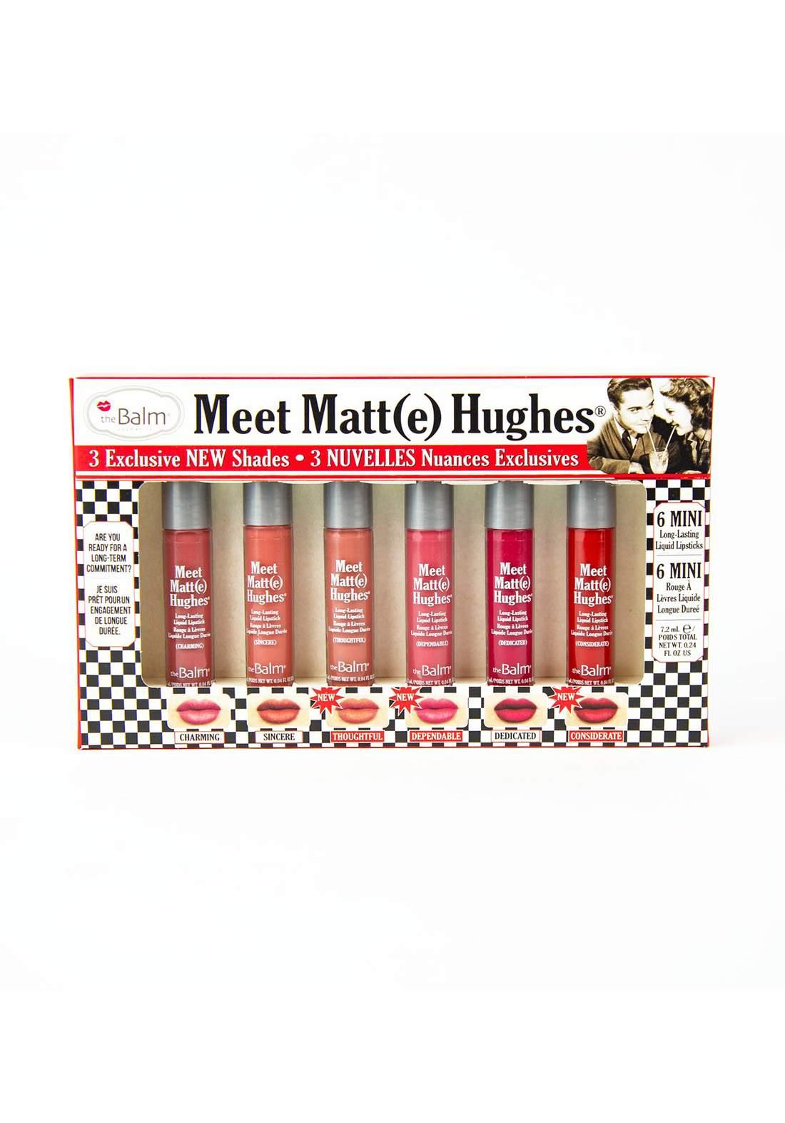 The Balm Meet Matt Hughes Set of 6 Mini Lipsticks Vol. 14  سيت احمر الشفاه