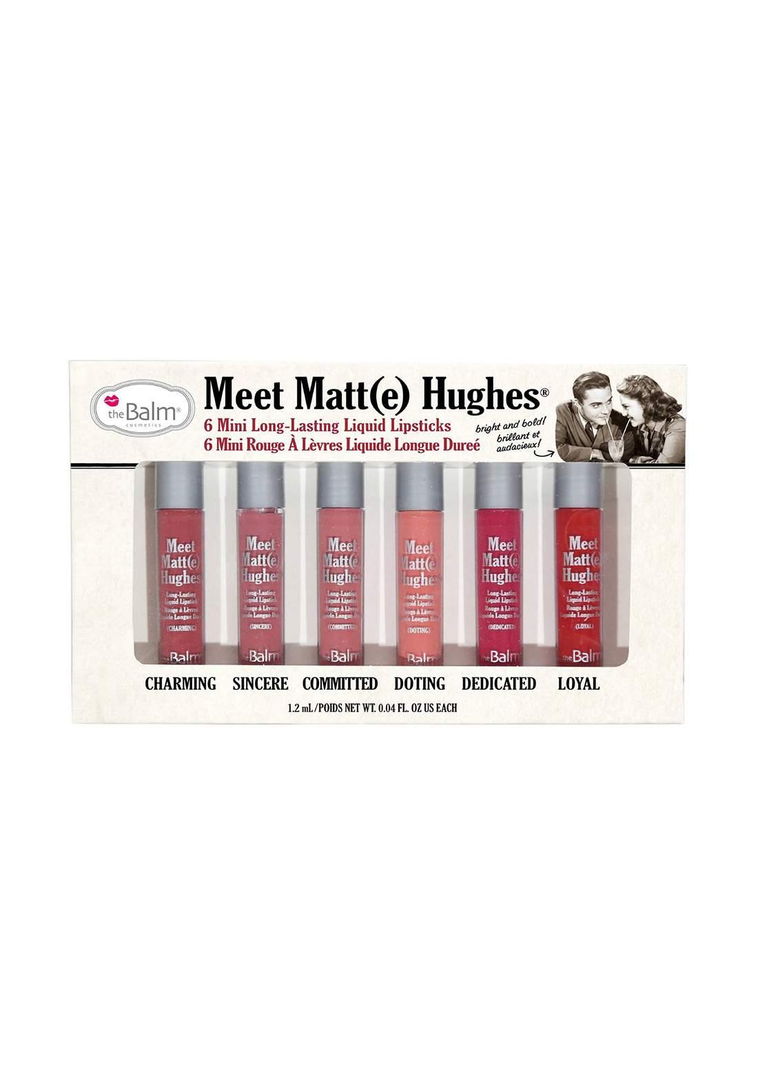 The Balm Meet Matt Hughes Set of 6 Mini Lipsticks Vol. 1  سيت احمر الشفاه