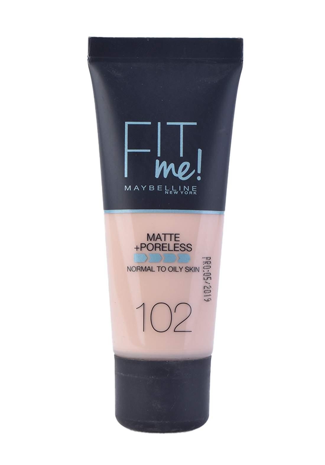 Maybelline Fit Me Foundation Cream 30ml Fair Ivory No:102 كريم اساس