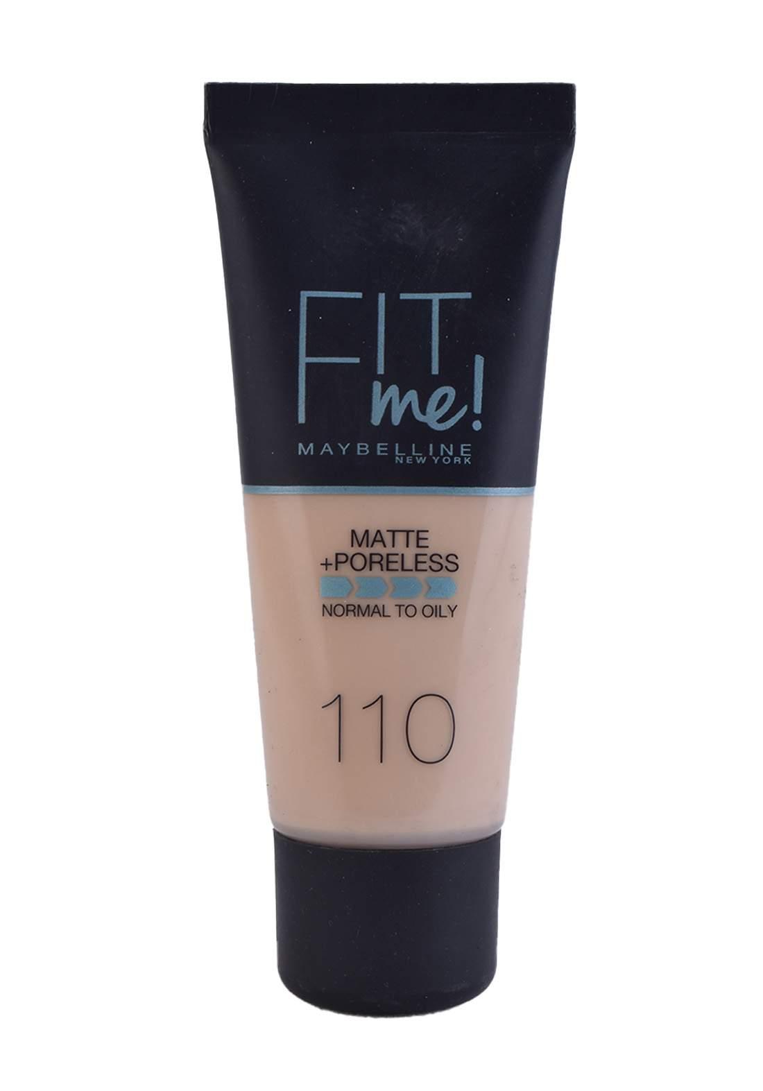 Maybelline Fit Me Foundation Cream 30ml Porcelain No:110 كريم اساس
