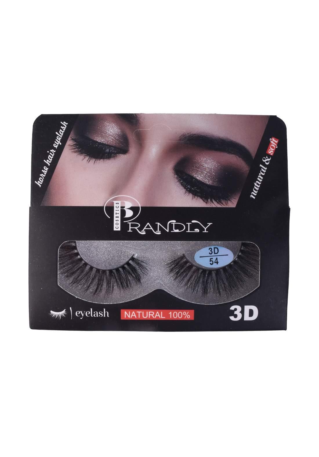 Brandly Cosmetics 3D no.54 False Eyelashes رموش صناعية