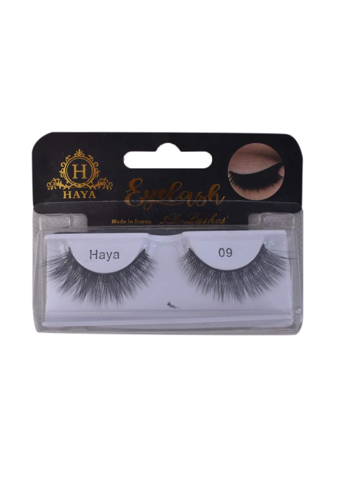 Haya Eyelashes 3D Lashes No.9 رموش