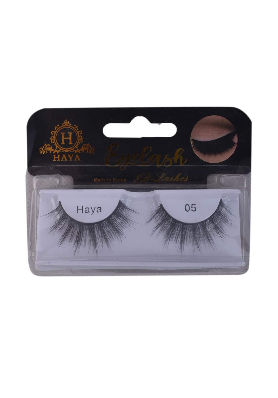 Haya Eyelashes 3D Lashes No.5 رموش