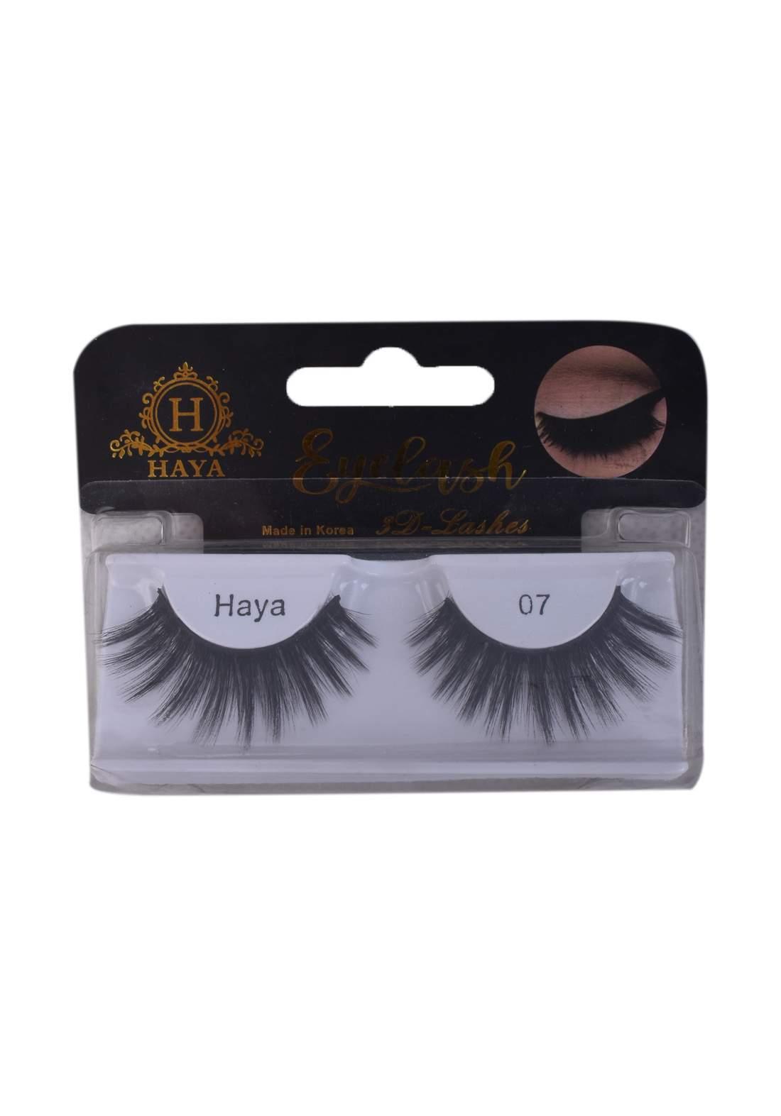 Haya Eyelashes 3D Lashes No.7 رموش