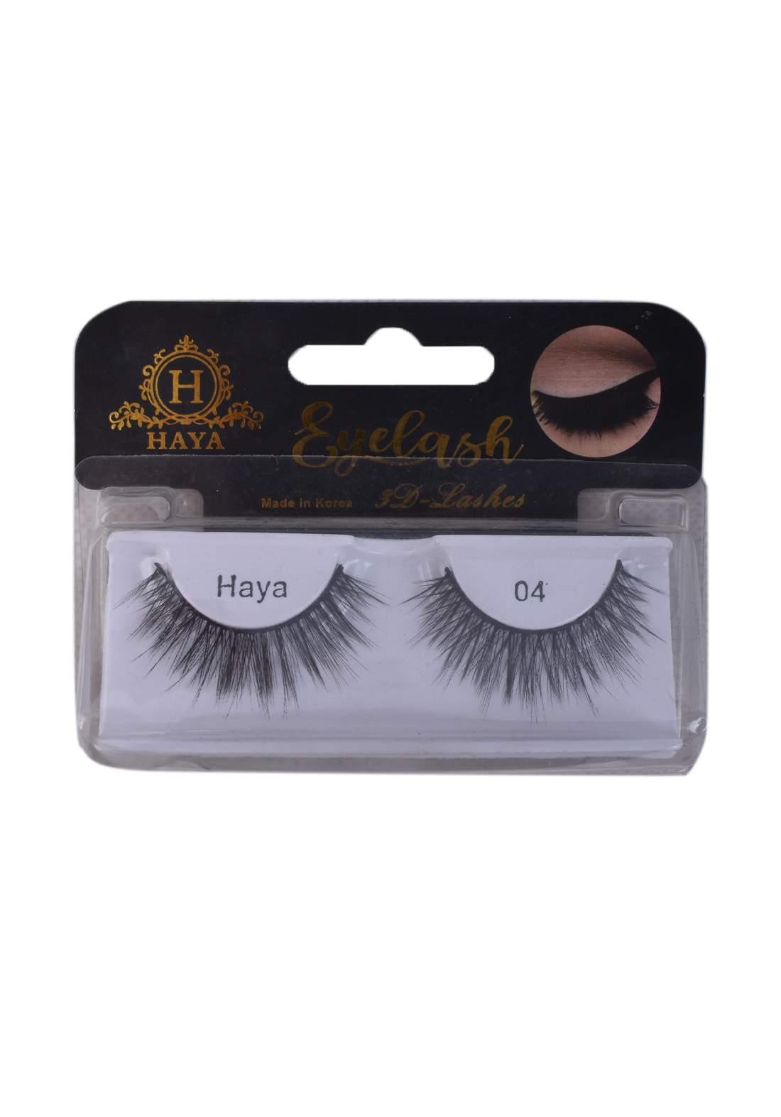 Haya Eyelashes 3D Lashes No.4 رموش
