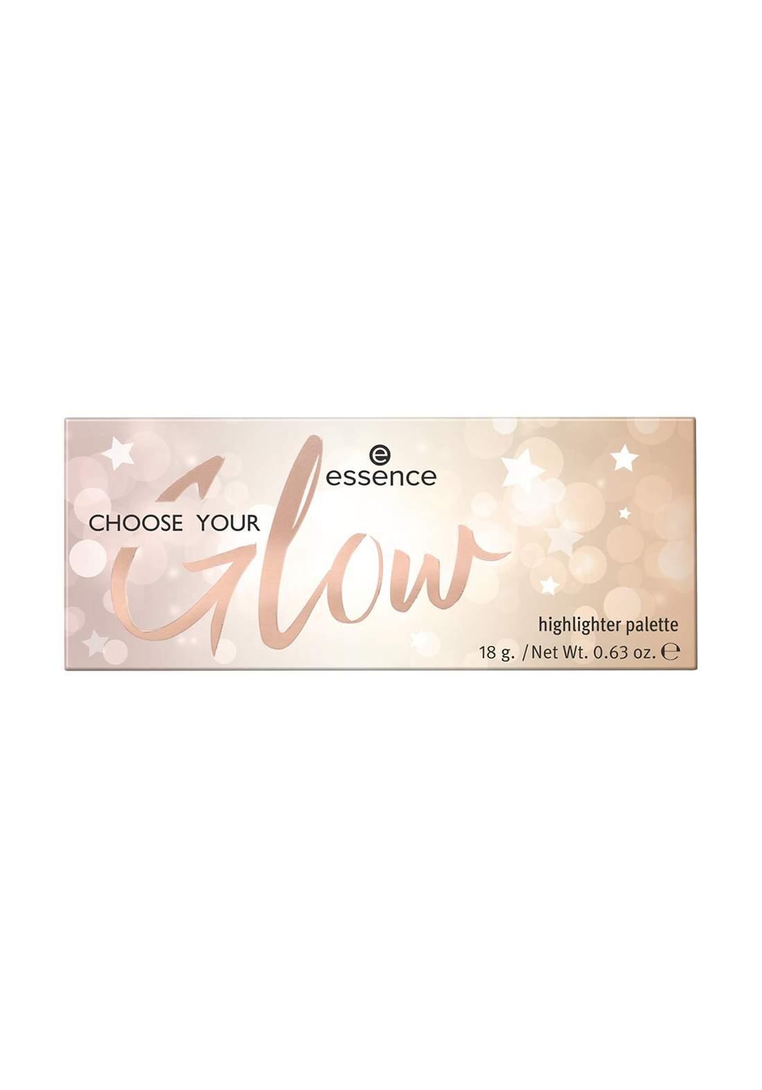 Essence Choose Your Glow Highlighter Palette 18g باليت هايلايتر