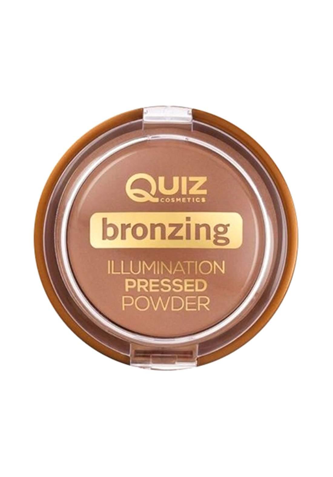 Quiz Bronzing Illuminating Powder No.02 Golden Tan 12g هايلايتر
