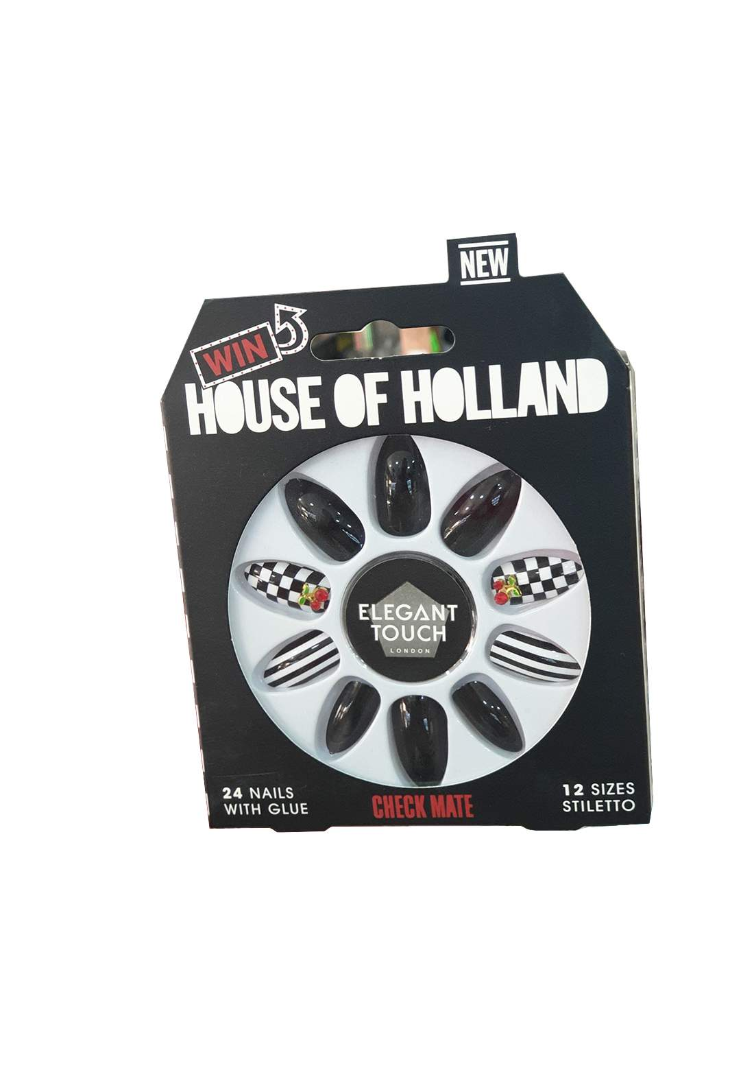 Elegant Touch House of Holland Nails Check Mate أظافر صناعية