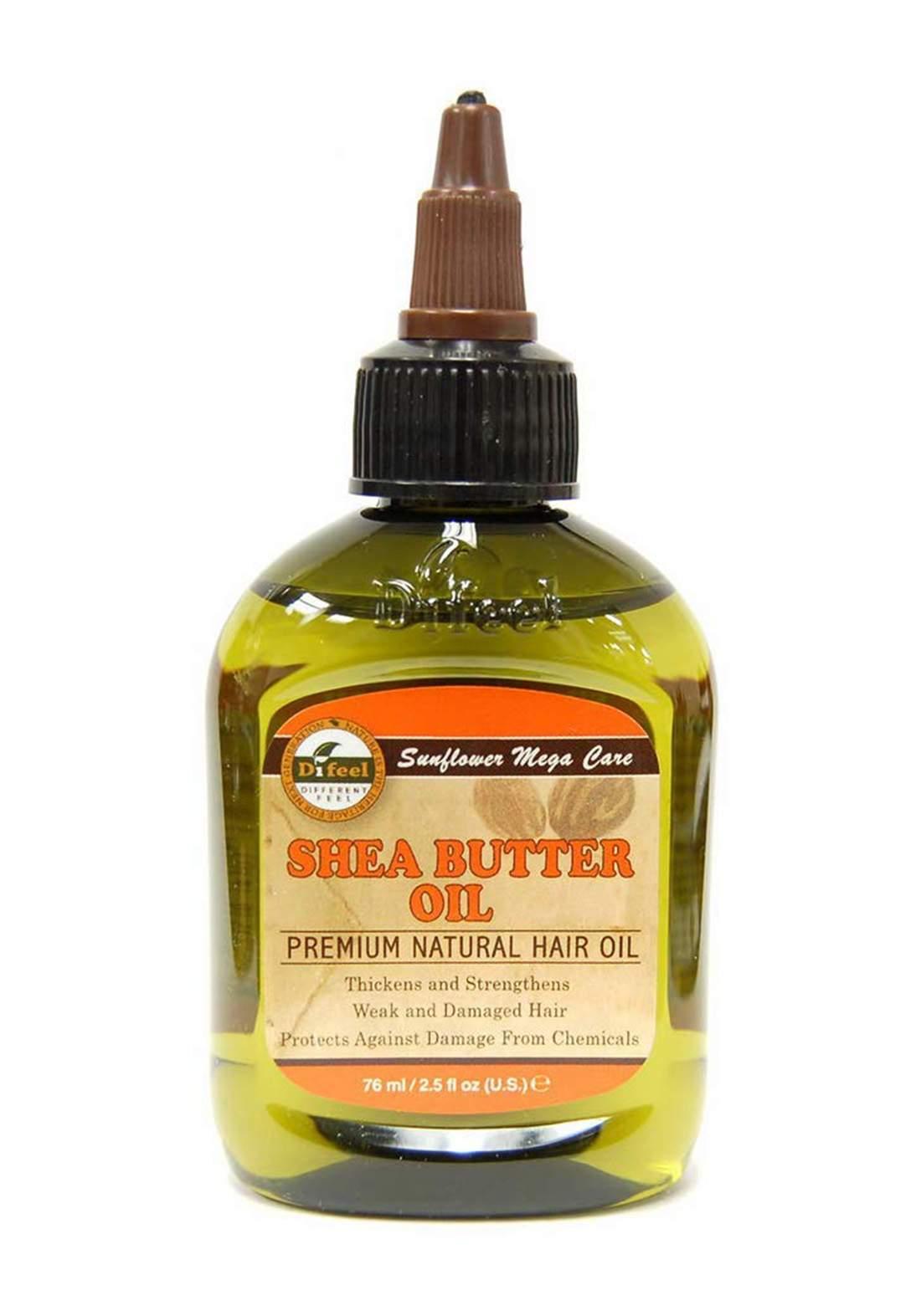 Difeel Shea Butter Oil Premium Natural Hair Oil 75 ml زيت للشعر