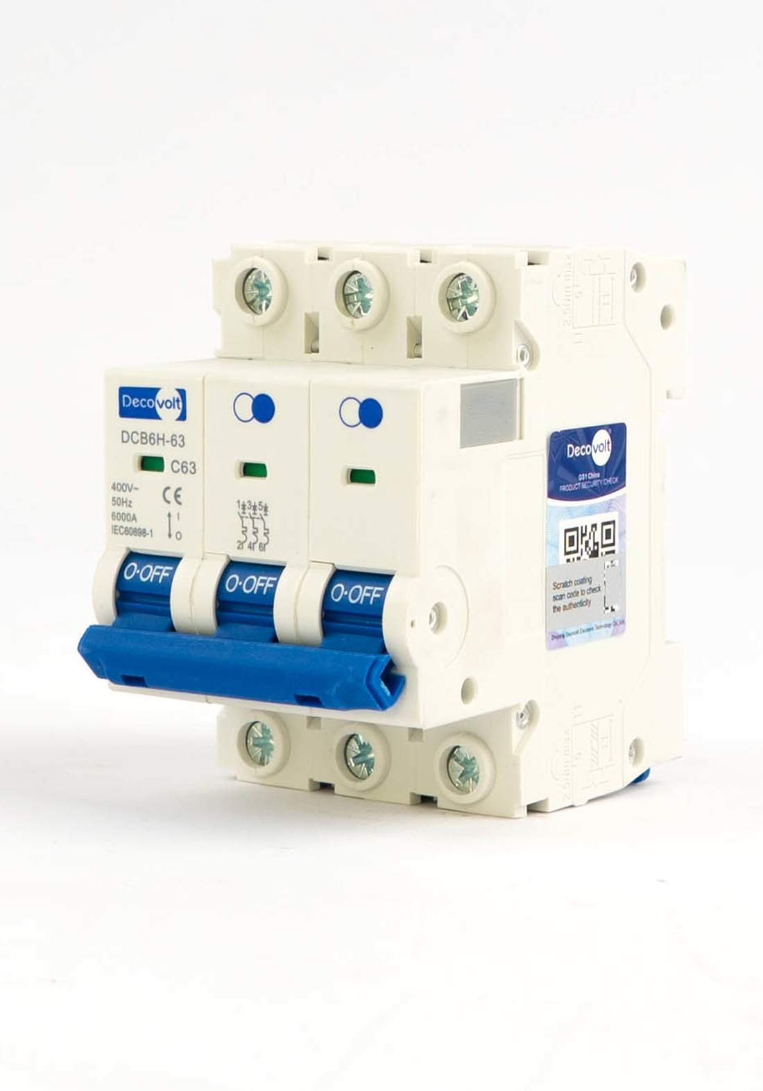 DecoVolt 2501 Triple drill 63 ampere جوزة ثلاثية 63 امبير
