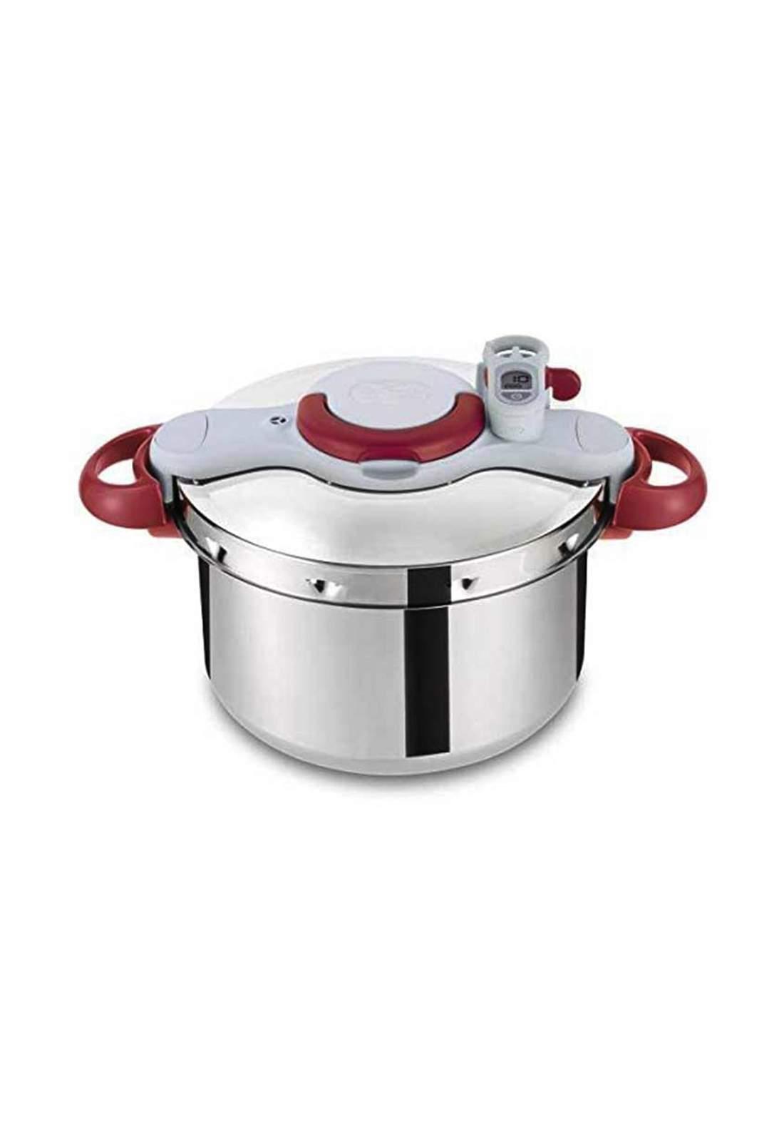 Tefal P4624831 Clipson Plus Pression Pressure Cooker - Silver قدر ضغط