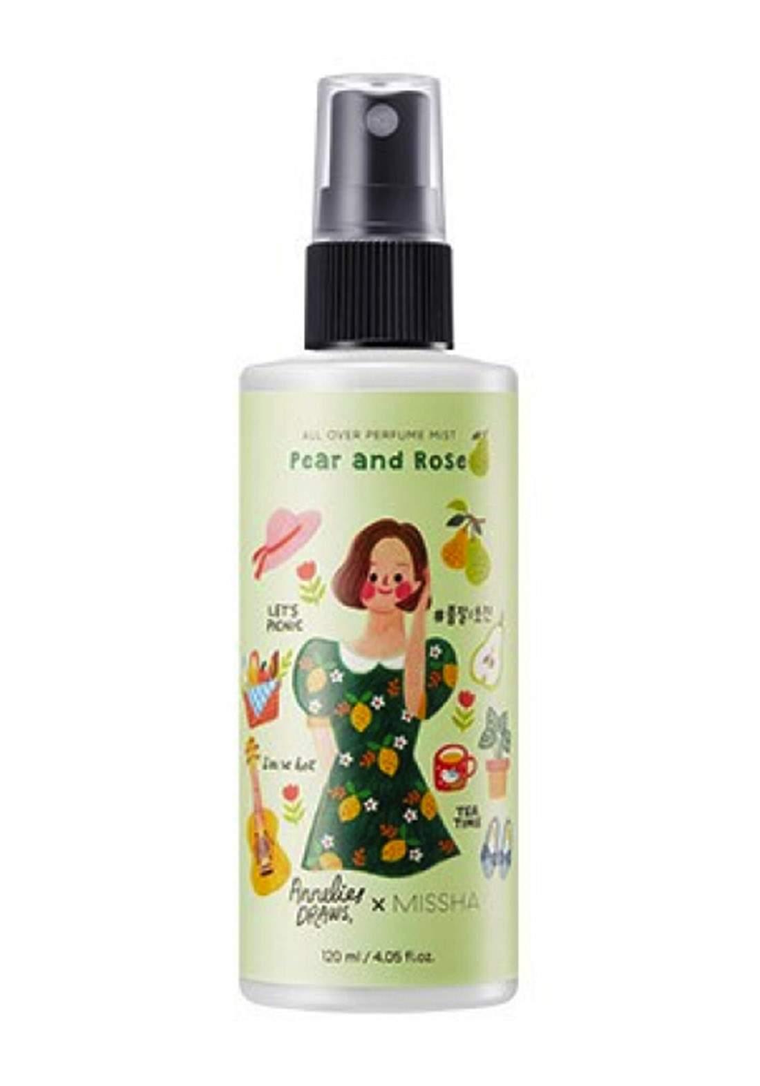 Missha Refreshing Body Mist Pear And Rose 120ml سبلاش للجسم