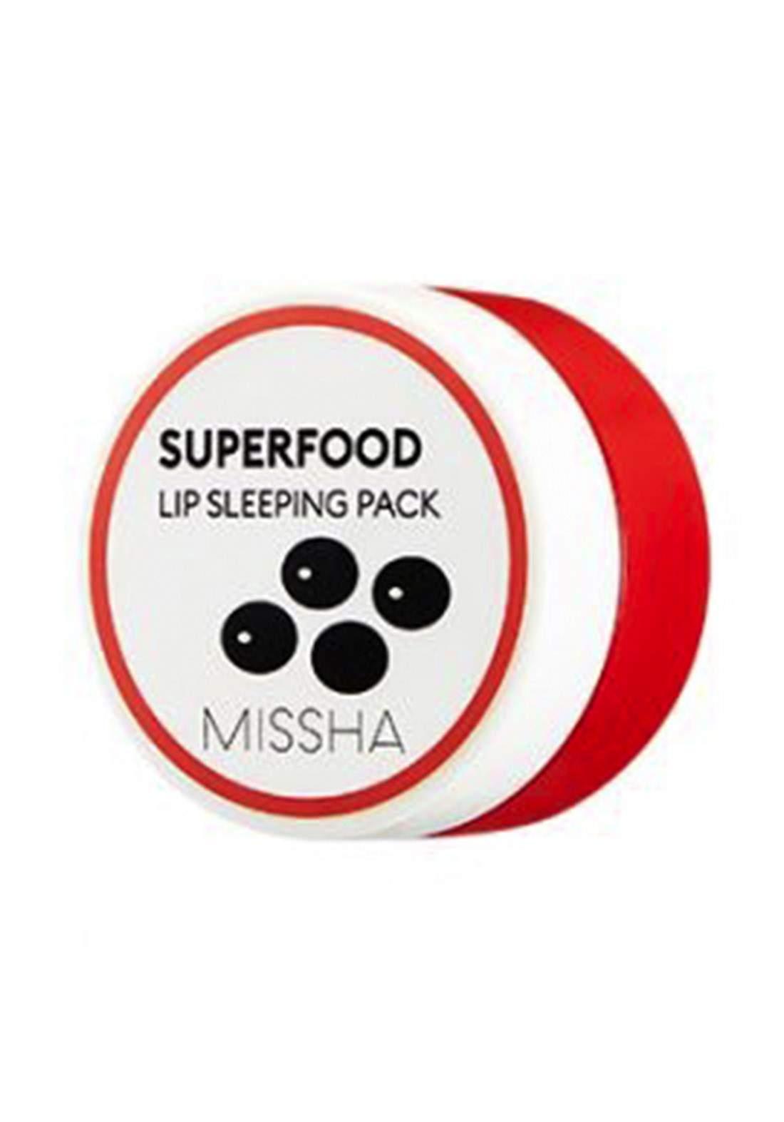 Missha Superfood Black Bean Lip Sleeping Pack 7g قناع ليلي للشفاه