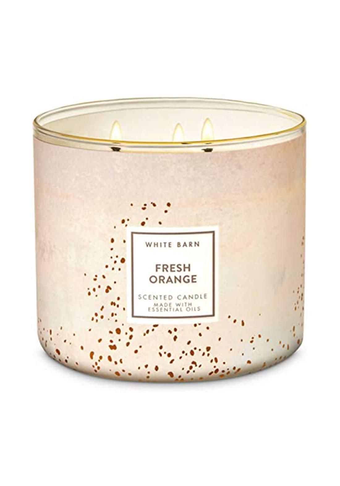 White Barn Bath and Body Works 3-Wick Scented Candle Orange شمعة عطرية