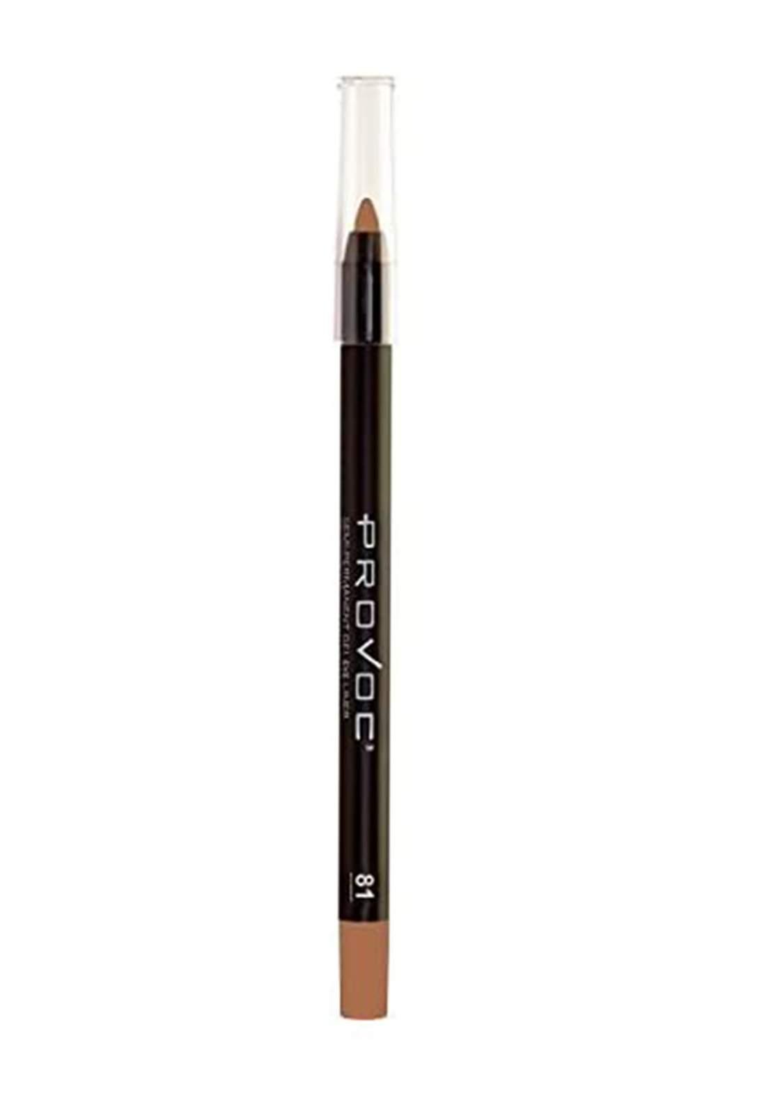 Provoc 353-0014 Semi-Permanent Gel Eyeliner pencil  No.81 Gilded Glamour قلم تحديد العيون