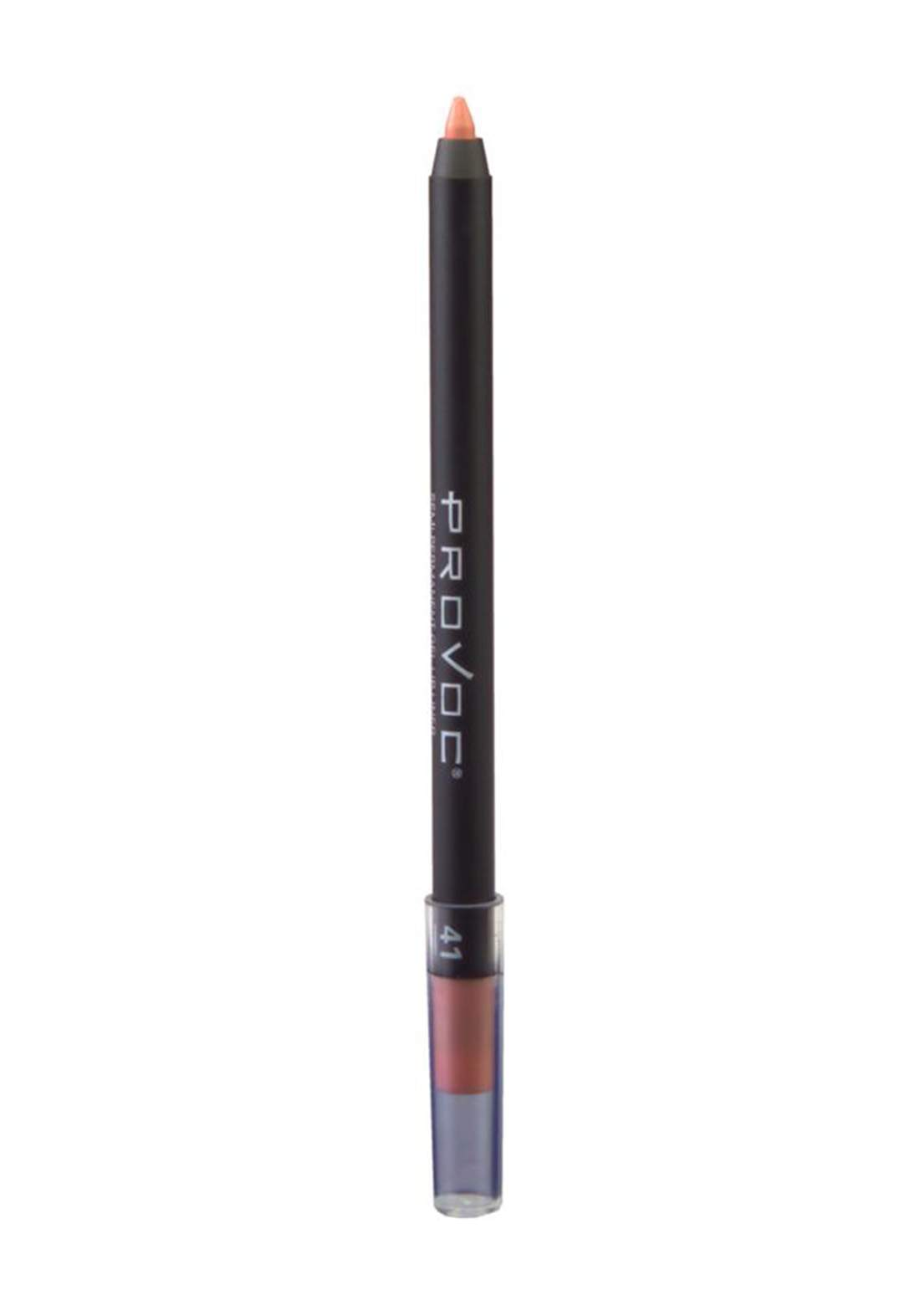 Provoc 353-0024 Semi Permanent Gel Lip Liner Pencil No.41 Kiss Me In The Nude محدد  الشفاه