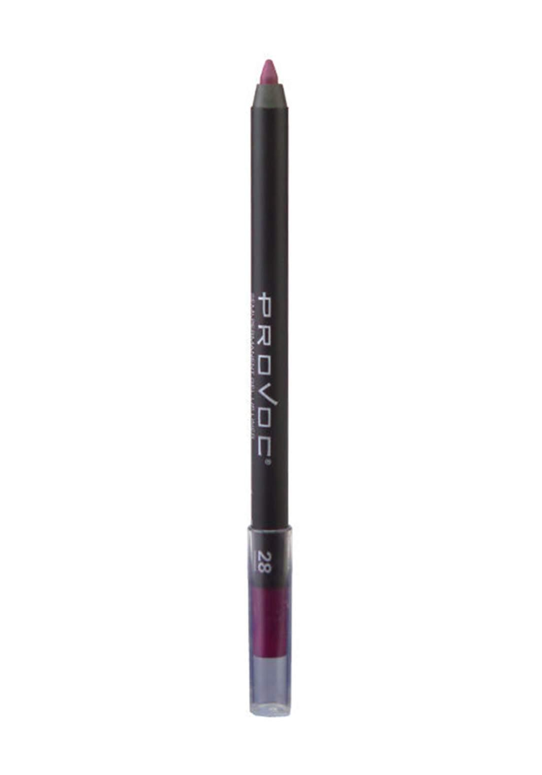 Provoc 353-0039 Semi Permanent Gel Lip Liner Pencil No.28 Sexy Cabernet محدد الشفاه