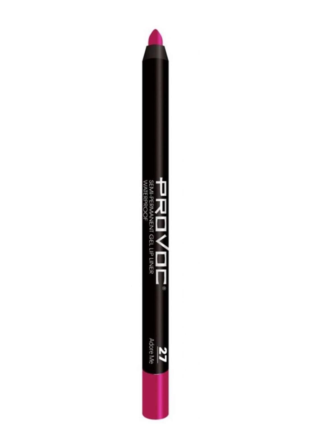 Provoc 353-0044 Semi Permanent Gel Lip Liner Pencil No.27 27 Adore Me محدد الشفاه