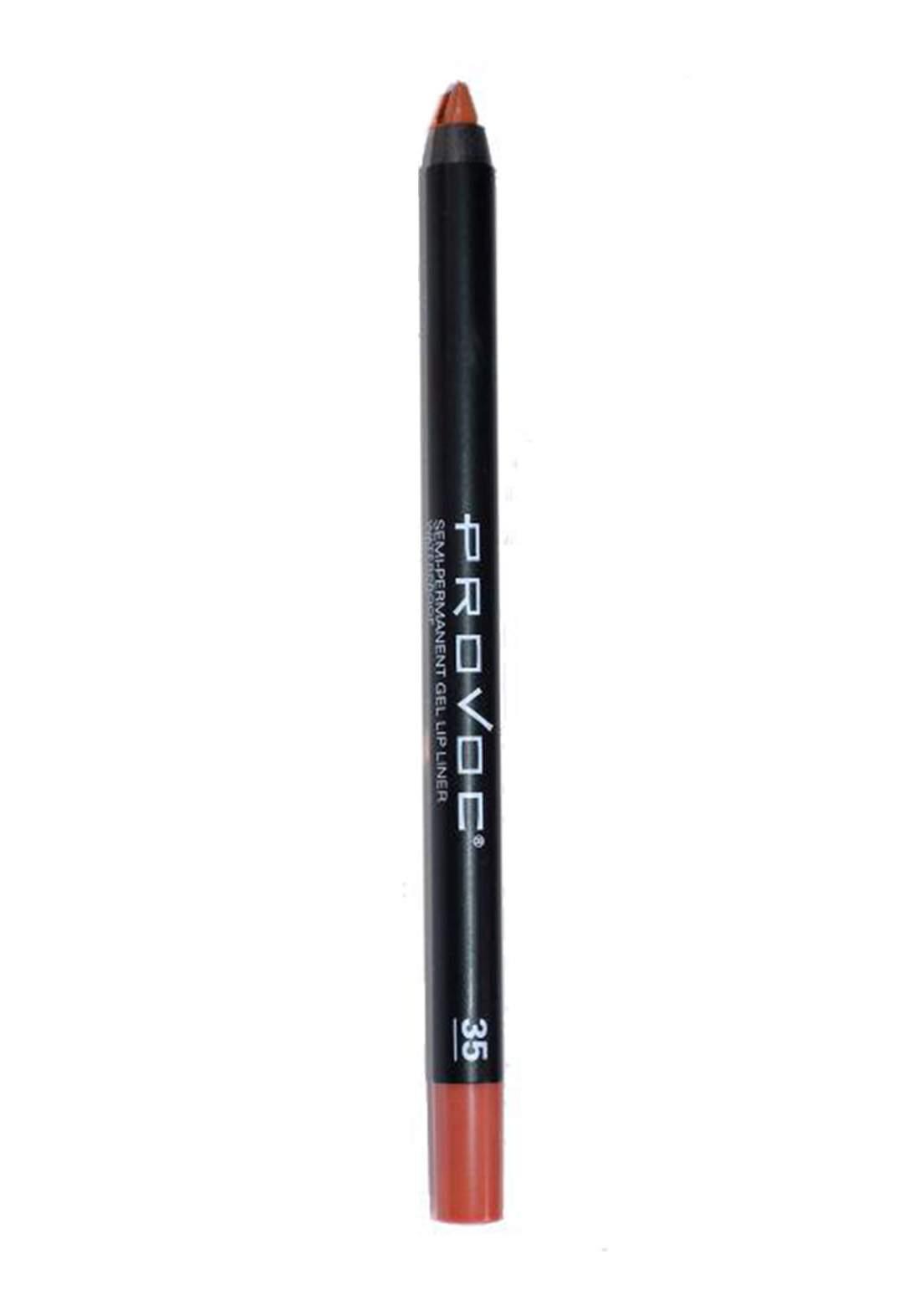 Provoc 353-0052 Semi Permanent Gel Lip Liner Pencil No.35 Sexy Silhouette محدد الشفاه